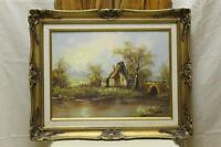 Original Oil Painting on canvas- Country Cottage