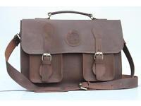 Real Leather Briefcase , Laptop Bag Satchel Shoulder Messenger Bag