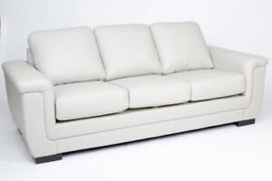 WHITE COLOR COUCH - RED AND BLACK LEATHER COUCH SALE (BD-1268)