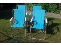 4 lightweight folding picnic garden chairs