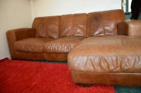 Dfs real leather corner sofa