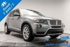 2013 BMW X3 xDrive28i CUIR ROUGE TOIT PANORAMIQUE
