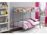 SINGLE BUNK BED WITH 2 SEMI ORTHOPAEDIC MATTRESS -DELIVERED ON SAME DAY FOR FREE