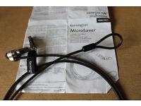 Kensington microsaver security lock, cable and keys