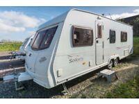 Lunar Solaris 2 - 2006, 4 Berth, Tag Axle Caravan Fixed Bed, End Washroom
