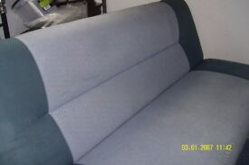 two tone blue sofa bed
