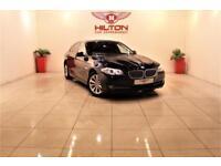BMW 5 SERIES 2.0 520D EFFICIENTDYNAMICS 4d 181 BHP + SAT NAV + (black) 2011