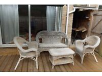 Weave Garden furniture set. Table, chairs, sofa and cushions.