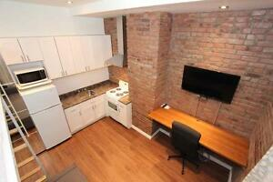 Furnished, All-inclusive downtown studio! Steps to Concordia!