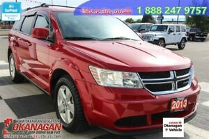 2013 Dodge Journey 5pass, No-Accidenrts, Okanagan SUV, SUPER CLE
