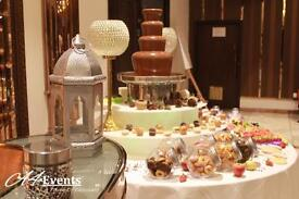 Chocolate Fountain - Wedding Stage - Chair Covers - Wedding Decorations - Photo booth (Magic-mirror)