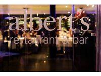 Restaurant Manager. Albert's, Worsley
