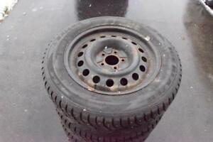 Jeep Patriot Compass 215/65/17 STUDDED Sailun Snows On Rims 70% Tread