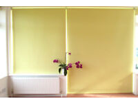 LargeYellow Roller Blind - Blackout. Textured PVC on Aluminium tube 32 x 1357 x 2100 mm +