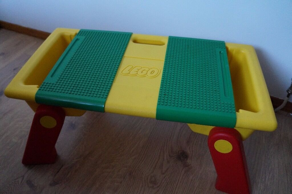 Rare Portable Lego Duplo Building Table Carry Handle 2 Green Base ...