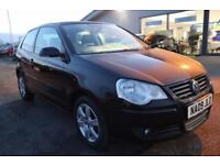 VOLKSWAGEN POLO 1.2 MATCH 3d 68 BHP - 360 SPIN ON WEBSITE (black) 2009