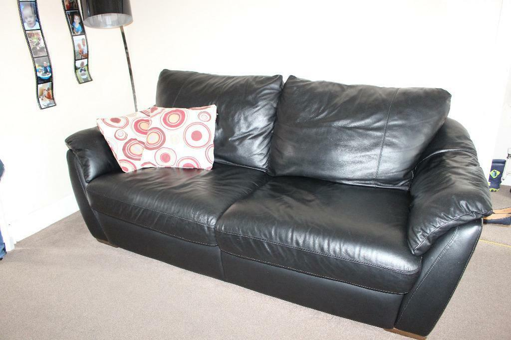 ikea real leather sofa bed in coventry west midlands gumtree. Black Bedroom Furniture Sets. Home Design Ideas