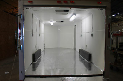 Custom Mobile Race Trailer With Power Outlets Ac And Heat - Spray Foam Rig