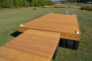 8 x 16 cedar floating dock with a 4 x 16 ramp and 9 dock floats Kingston Kingston Area image 3