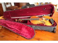 Violin, recently professionally restored.