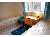 2 weeks deposit only*** Awesome Twin bedroom ready now. Bow Station. Must see!!