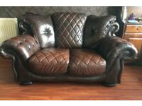 Chesterfield 3 Piece Suite (Leather).