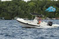 22.5 foot Hypalon RIB boat by STRONG Watercraft