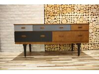 MID CENTURY SIDEBOARD, CHEST OF DRAWERS, VINTAGE,RETRO,solid wood (free delivery)