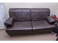 LARGE LEATHER TWO SEATER SOFA IN VERY GOOD USED CONDITION ....FREE LOCAL DELIVERY 07486933766