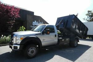 2014 Ford F-550 XLT,4X4,Multilift Hook system( BRAND NEW 14yd bi
