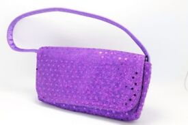 PURPLE SMALL SHOULDER BAG, Postage available Worldwide.
