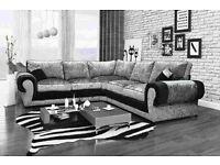 Best selling crushed velvet corner sofas