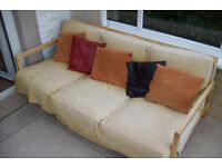 3 seater settee with pine frame