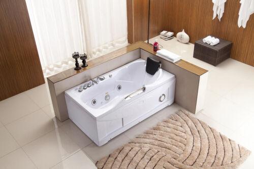 New Jetted Whirlpool Hydrotherapy Bathtub Bath Tub w/ Heat Radio Chromatherapy