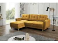 Scandinavian Corner Sofa Beds with Storage / Full pay at delivery