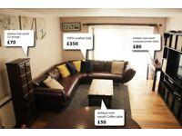 Living room set: Sofa, Coffee table and computer printer table