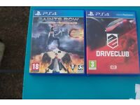 SAINTS ROW FOUR AND DRIVECLUB PLAY STATION 4 GAMES