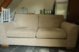 2 Seater Sofa - Beige - Free to collect.