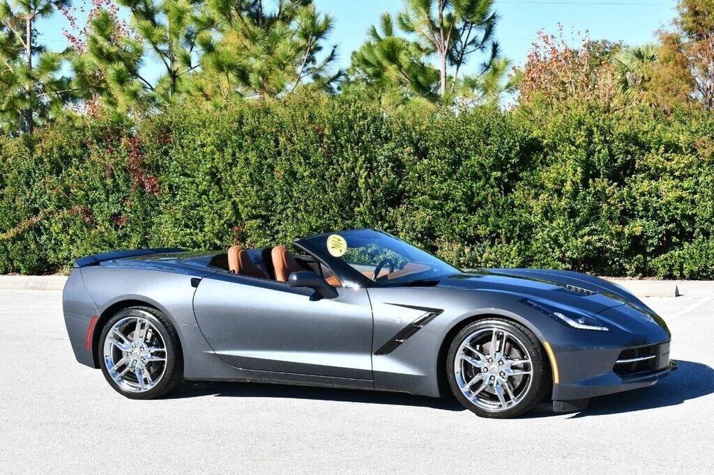 2014 Gray Chevrolet Corvette Convertible 3LT | C7 Corvette Photo 8