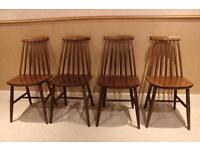 Set of Four Ercol Dining Chairs