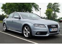 1 OWNER 2008 58 AUDI A4 B8 143 S LINE TDI DIESEL FSH ALLOYS LEATHER MONZA SILVER FACELIFT **SPORTS**