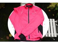 Women's Size 10 Pink Full Zip Jacket With Back Vent Good Condition Good For Spring Morning