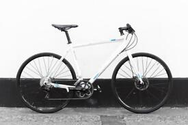 Boardman team hybrid bicycle with disc brakes sharp