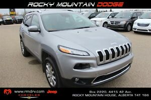 2014 Jeep Cherokee Limited / Lane Departure Warning / Heated Sea