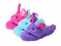 Wholesale Clearance Joblot: 36 x Girls Kids Open Toe Bunny Slipper Mules