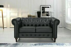 💖🔴AMAZING OFFER🔵💖CHESTERFIELD PU LEATHER SOFA 2 SEATER-CASH ON DELIVERY🔵💖🔴
