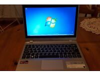 "Acer Aspire V5-122P 11.6"" (500GB, AMD A Series, 1GHz, 4GB) Touch Laptop Silver £ ONO"