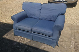 Two-seater sofa blue – classic Laura Ashley £40