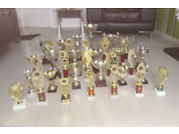Trophies, Trophy, Cups, footbal,l Golf, Dancing, School