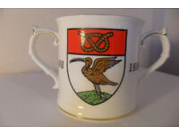 Rare Leek & Moorlands Football Mug Leek Post Charity Shield 3rd June 1988